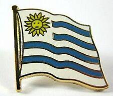 Uruguay Flags Pin, 1,5 cm, New Pressure Cap