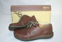 Born Womens Pebble Grain Brown Leather Lace Up Walking Oxfords Size 6 W6808