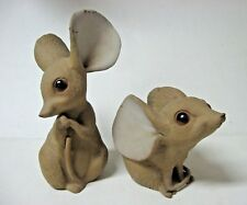 Lot 2 JUMBO mouse sculpture figures pottery BIG EARS signed ANTHONY 425 426 USA
