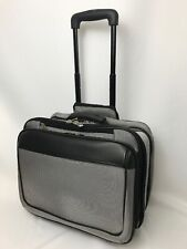 Wheeled Business Laptop Bag Briefcase Carry-on Gray Black Rolling Overnight Case