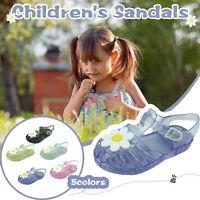 Children Baby Kids Girls Summer Casual Jelly Flower Beach Sandals Princess Shoes