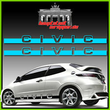 Honda CIVIC FK1 FK2 FN FD 2 Seitenaufkleber Seitenstreifen Aufkleber Type R