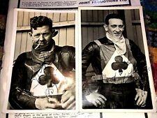 More details for 2 super rare belle vue speedway riders  signed autographs 1957