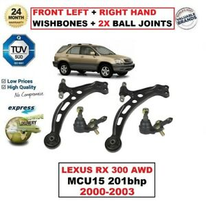 FOR LEXUS RX 300 AWD 2000-2003 FRONT AXLE LEFT + RIGHT Lower ARM + 2X BALL JOINT