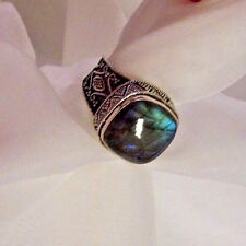 ARTISAN CRAFTED LABRADORITE RING FROM QVC SIZE 7 1/2