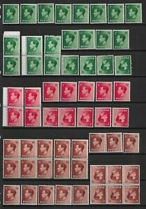 3 scans-Collection of MINT EdVIII stamps.