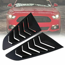 2x For Ford Mustang 2015 2016 2017 2018 Matte Black Side Quarter Window Louver