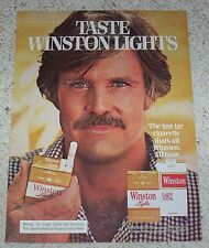 1978 ad page - Winston Cigarettes sexy GUY mustache smoking Vintage Advertising