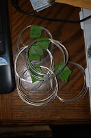 10 feet 24 gauge Sterling Silver Half Hard Round wire!! L@@K