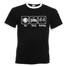 Rowing Adults Mens Black Ringer Gift T Shirt