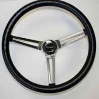 "1968-1969 RR Barracuda Cuda Fury Grant Steering Wheel 15"" black stainless steel"