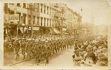 GLOVERSVILLE, NEW YORK, WELCOME HOME PARADE ORIGINAL ca 1918 REAL PHOTO POSTCARD