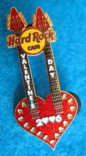 ONLINE HRCPCC VALENTINE'S DAY 2006 TWIN NECK HEART GUITAR Hard Rock Cafe PIN LE