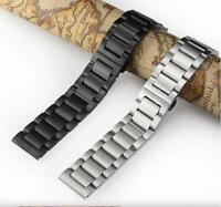 Brushed Stainless Steel Watch Strap Solid Bracelet Watch Band Wrist 18-24mm