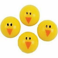 Pack of 24 - Easter Chick Bouncing Balls - Great Easter Party Bag Fillers