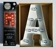 """NEW VINTAGE LIGHTING LED White """"A"""" Letter Light Up Letters Marquee Sign Metal"""