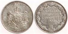 Norwegen 2 Kroner 1907 - Silber - vz-st