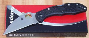 SPYDERCO DELICA 4 WHARNCLIFFE FOLDING KNIFE VG10 STAINLESS BLACK FRN C11FPWCBK
