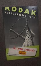 KODAK CARDBOARD SIGN FOR VERICHROME FILM/cks/204282