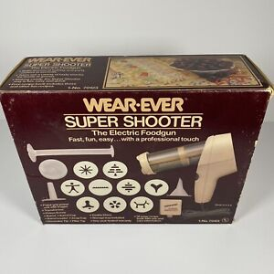 Wear Ever Super Shooter Electric Holiday Cookie Press Candy Maker Brand New