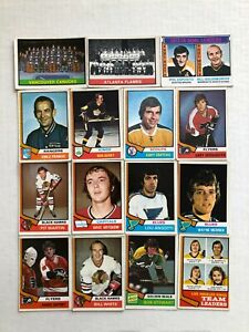 1974-75 OPC Hockey Cards Lot of 15 Cards