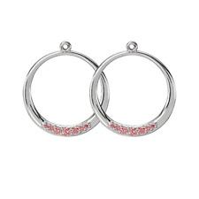 NEW! Authentic Pandora Salmon CZ Hoop Compose Earrings #290634CZS RETIRED