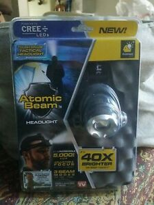 Atomic Beam Headlight 40X Brighter 5000 lux As Seen TV NEW 3 adjustable modes.