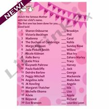 Who's the Mummy Celebrity Quiz - Baby Shower Party Quiz - Pink Girl - 10 Player!
