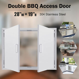 71cmW X 48cmH BBQ Island Stainless Steel Double Door Access For Outdoor Kitchen