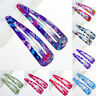 10Pcs Sheet Multicolour Hair Snap Clips Claws Women's Girls Hair Accessories