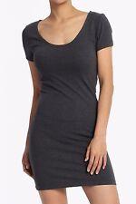 TheMogan S~3XL Basic Scoop Neck Short Sleeve Mini T-Shirt Dress Long Tee Tunic