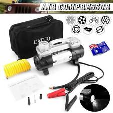 12V Portable 100PSI Tyre Tire Inflator Double-Cylinder Pump Air Compressor Xr
