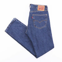 Vintage LEVI'S 505 Regular Straight Fit Men's Blue Jeans W32 L34