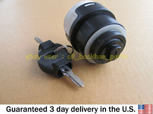 NEW HOLLAND CASE MANITOU PERKINS MERRIT IGNITION SWITCH W/ 2 KEYS 50988 85804674