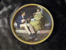 Knowles Norman Rockwell Collector Plate Pondering On The Porch
