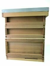 Easibee FED21612 Starter Kit for a National Beehive with Flat Roof in Cedar Frames and Wax