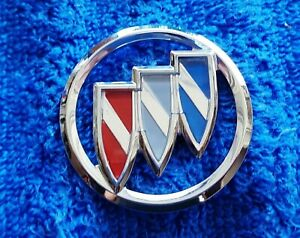 "NEW NOS OEM GM Buick Model 1.75"" Chrome Body Interior Tri Shield Ornament Emblem"