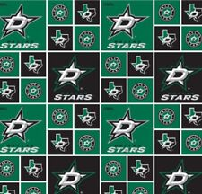 DALLAS STARS PW NHL HOCKEY 100% COTTON FABRIC MATERIAL CRAFT BY THE 1/2 YARD