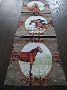 Horses Horse Racing Run for The Roses Equestrian Tapestry Wall Hanging Panel