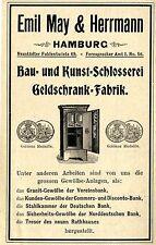Emil May & Herrmann Hamburg GELDSCHRANK- FABRIK BAU- UND KUNST- SCHLOSSEREI 1897