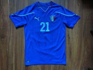 ITALY FOOTBALL SHIRT 2010-2011 ORIGINAL JERSEY #21 PIRLO SIZE S