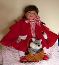 "Lee Middleton Little Red Riding Hood 22"" doll with wolf and basket. New in box."