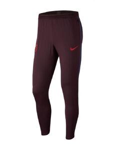 Barcelona Nike Track Pants Hose Suit 2019 20 Training Dry Strike Kastanienbrau