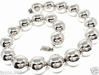 TAXCO MEXICAN STERLING SILVER HUGE 200 GRAM BEADED BEAD NECKLACE MEXICO