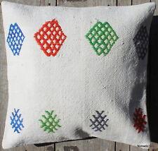 (45*45CM, 18 INCH) Boho handwoven kilim cushion cover colour motif on cotton