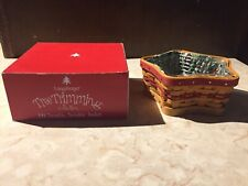 """Longaberger 2000 Red """"Twinkle Twinkle"""" Tree Trimming Basket Combo"""