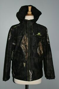 NEW Youth Scent Control Jacket Mossy Oak Eclipse L (10/12) Waterproof Black Camo
