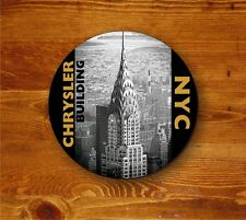 Chrysler Building NYC - round coaster