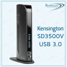 Kensington USB 3.0 Dual Video Docking Station SD3500V M01167 For Laptops