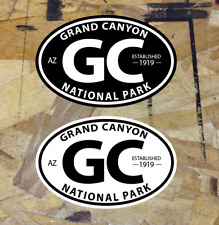 """Grand Canyon National Park Founded 1919 Oval Decal Sticker 3.5"""" - 2 for 1"""